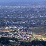 新潟県 - 弥彦山頂からの彌彦神社大鳥居